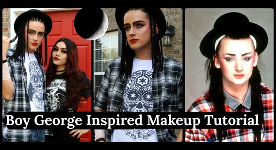 Boy George inspired makeup tutorial