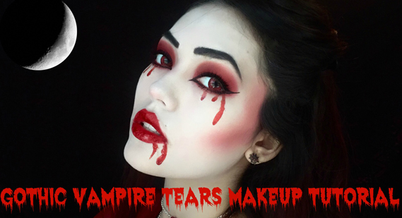 Gothic vampire tears makeup tutorial