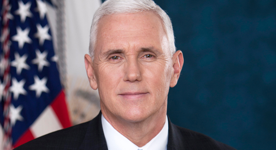Mike Pence leaves church after parishoners kneel