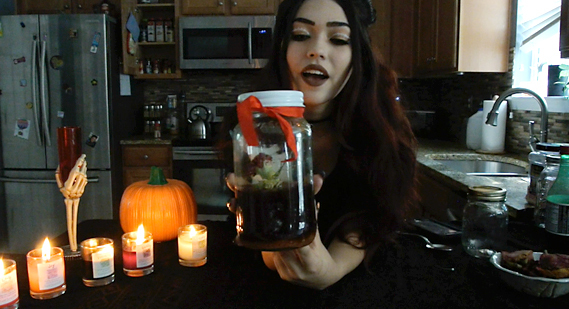 Making witch bottles