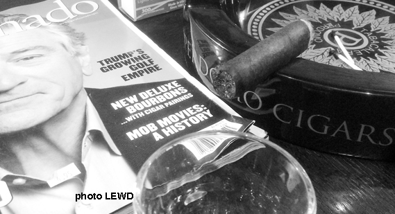 Cigars + whiskey = bliss