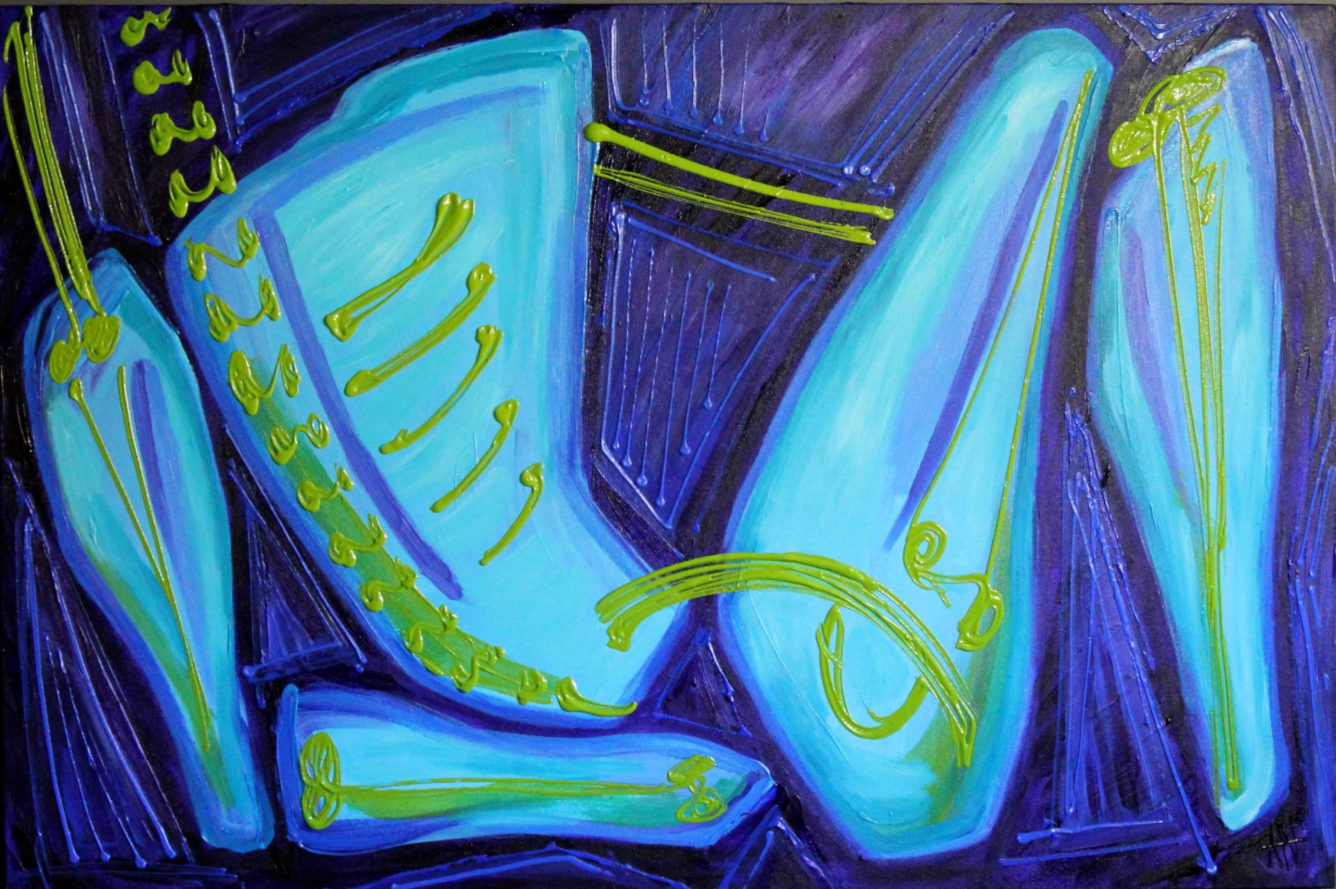 Reclining Blue, 2013