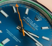 Rolex, Milgauss, Blue Dial, Lightening Strike, Watch, Luxury