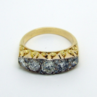 Antique Diamond 5-Stone Ring