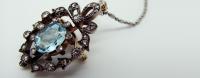 Pendant, Brooch, Aquamarine, Diamond