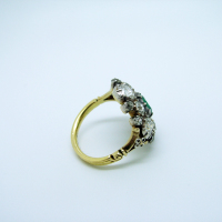 Georgian Basket-Style Emerald & Diamond Ring