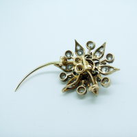 Flower Shaped Diamond Brooch