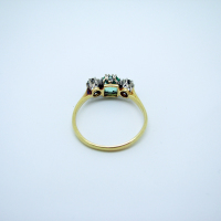 Three-Stone Emerald & Diamond Ring