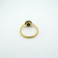 Diamond & Ruby Yellow Gold Ring