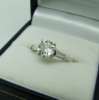 Elongated Diamond Ring