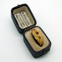 Antique Ruby & Diamond Yellow Gold Ring
