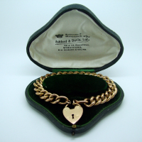 Gold Chain with Heart Lock