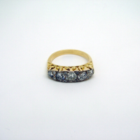 18ct Gold Five-Stone Diamond Ring