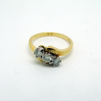 Three-Stone Antique Diamond Ring