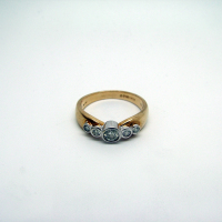 Five-Stone Antique Diamond Two-Tone Ring