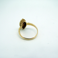 Ruby & Pearl Antique Gold Ring