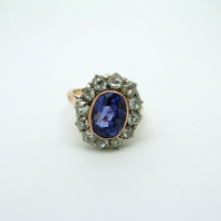Sapphire & Diamond Rose Gold Ring