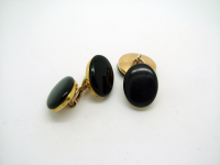 Black-Stone Chain-Linked Cufflinks