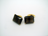 Black-Stoned Gold Cufflinks