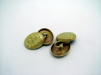 Oval Chain-Linked Gold Cufflinks