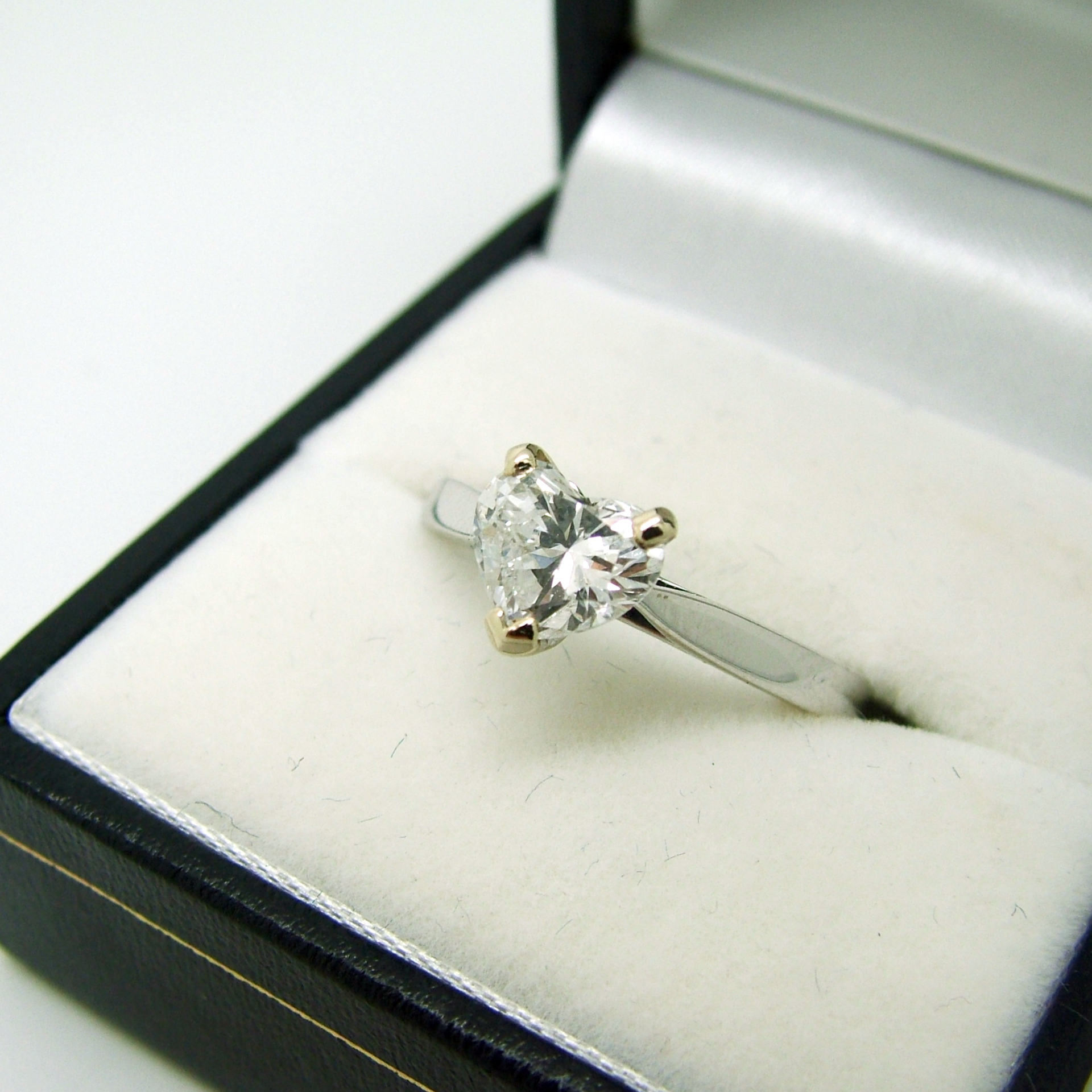 Heart-Shaped Diamond Ring