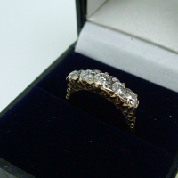 Five-Stone Yellow Gold Detailed Ring