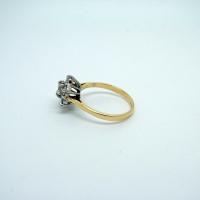 Large Daisy Diamond Ring