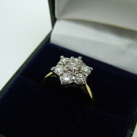 Large Daisy Diamond Ring
