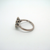 18ct White Gold  Daisy Rub-over Setting Ring