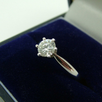 Single Stone 18ct Diamond Ring