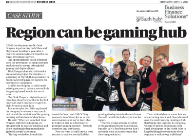 Dragons Featured in Manchester Evening News