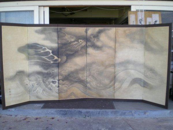 Restored Edo period byōbu