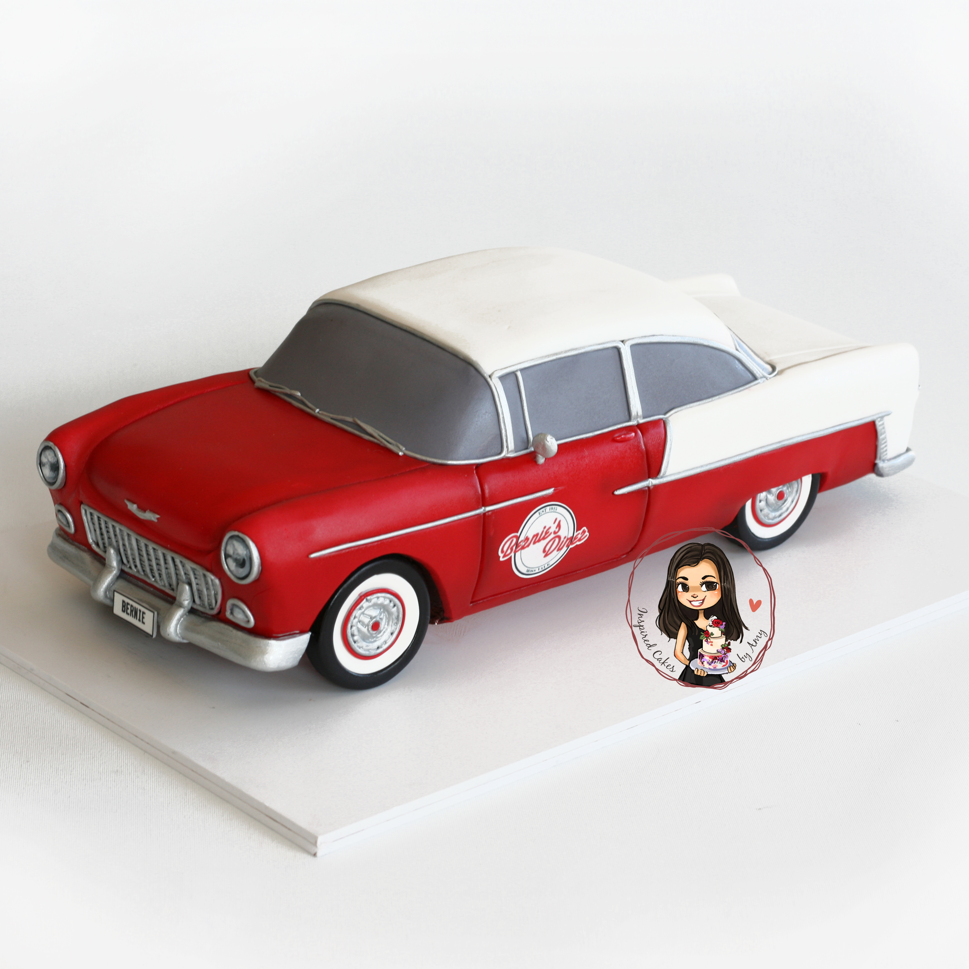 1955 Chevy car cake -Inspired Cakes by Amy