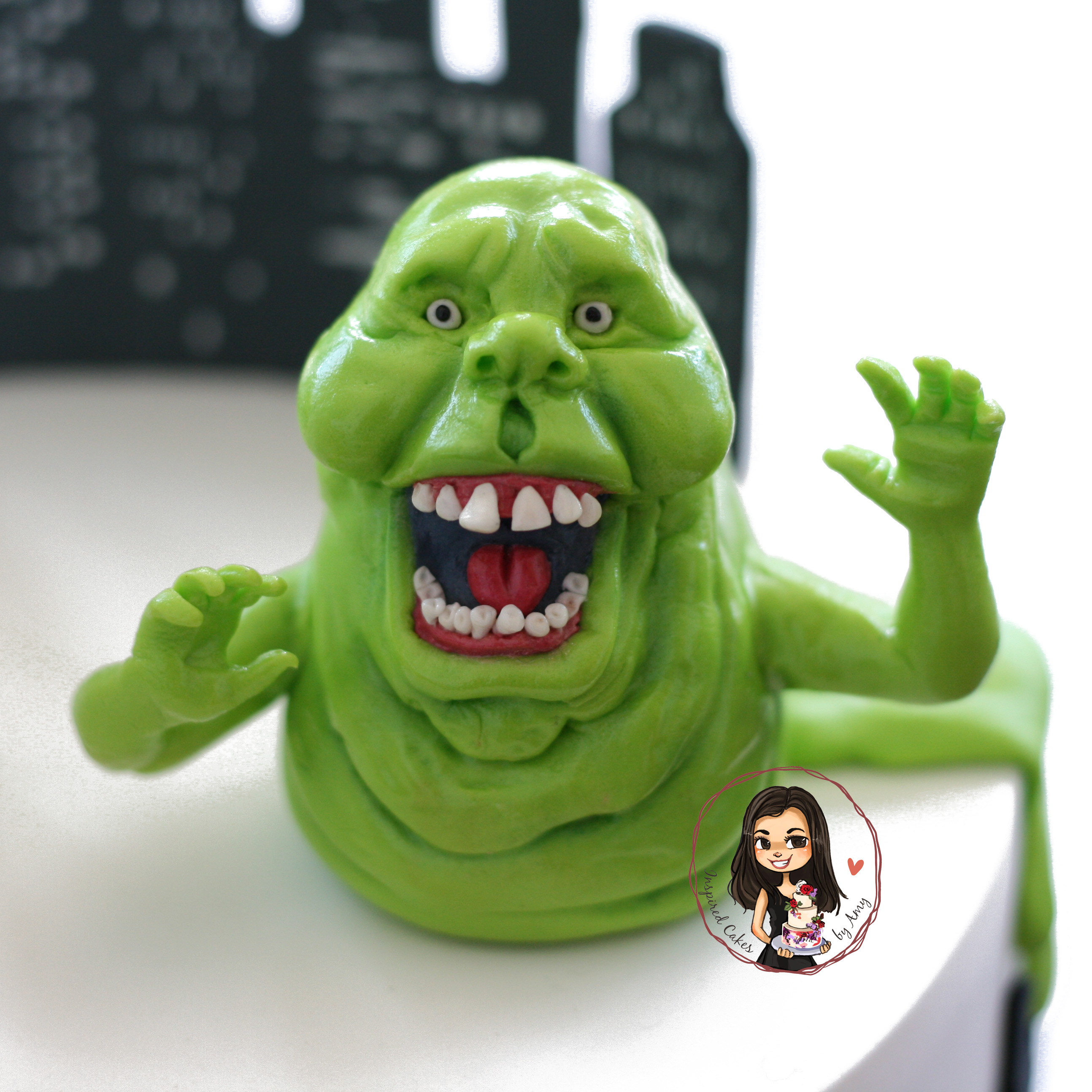 Slimer fondant figurine - ghost busters