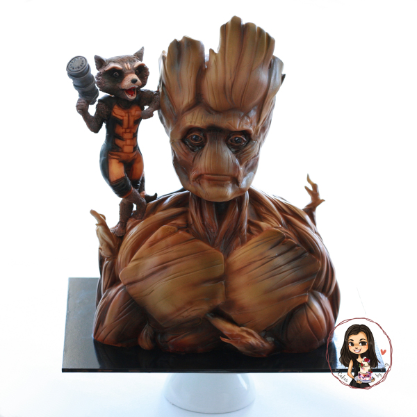 Groot and Rocket cake