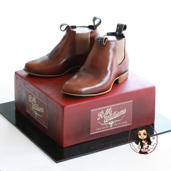 R.M. Williams boots cake