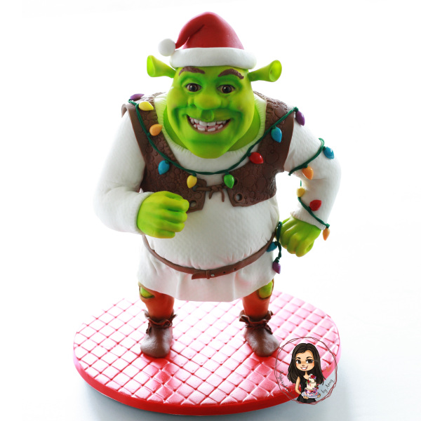 Shrek Christmas cake
