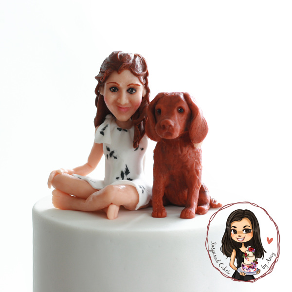 hand modelled chocolate figurine