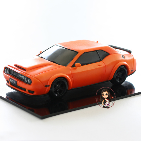 Car cake - Dodge Challenger - demon