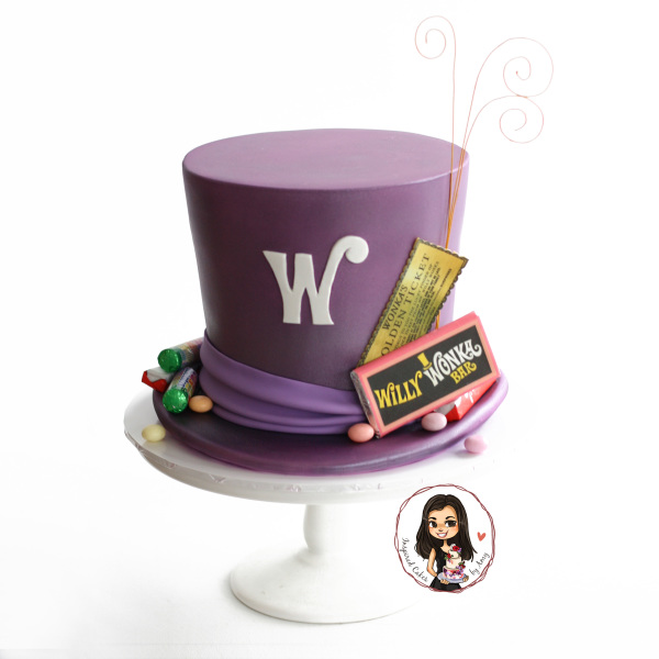 Willy Wonka hat cake