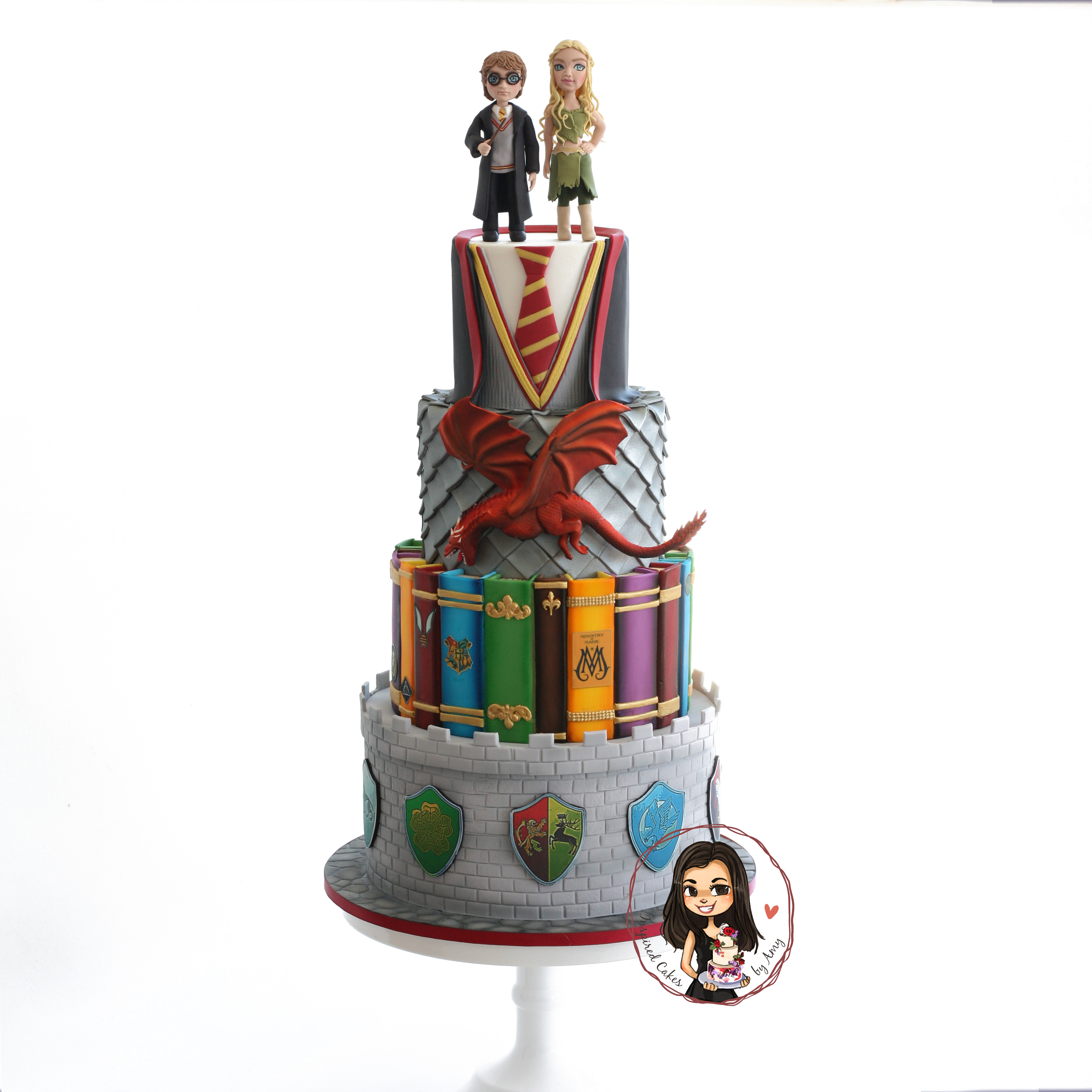 Game of Thrones and Harry Potter cake - Inspired Cakes by Amy