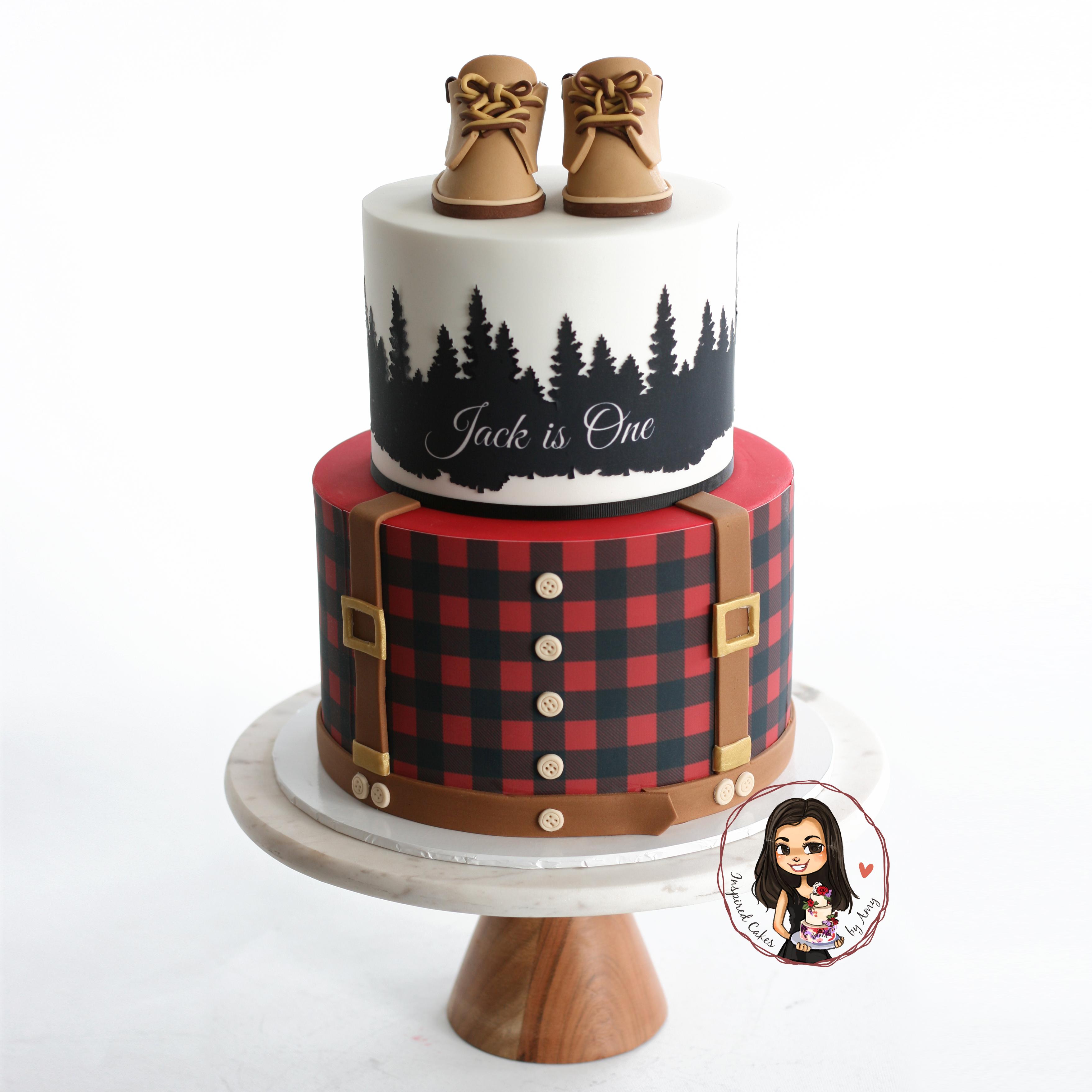lumberjack inspired cake