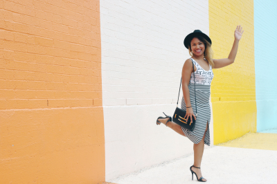 This photo was taken by @andysoun in front of Houston's #sugarandclothcolorwall.