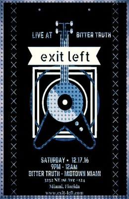 Exit Left Rock Cover Band Bitter Truth Midtown Miami