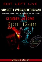 Exit Left Band live at Sunset Tavern South Miami Florida