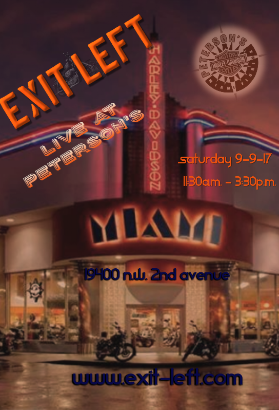 Exit Left Band North Miami Florida Events