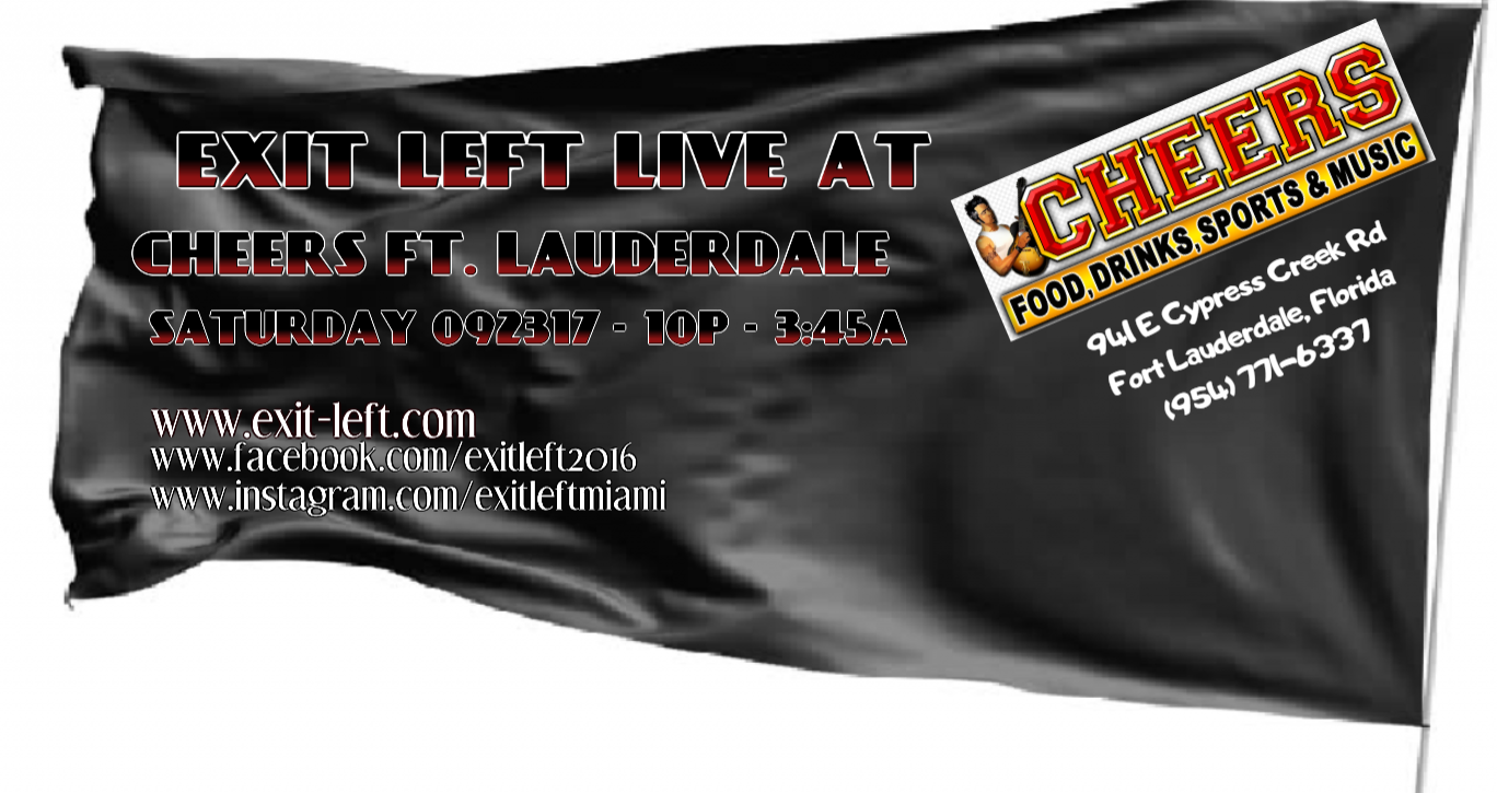 Exit Left Band Live at Cheers in Fort Lauderdale September 2017