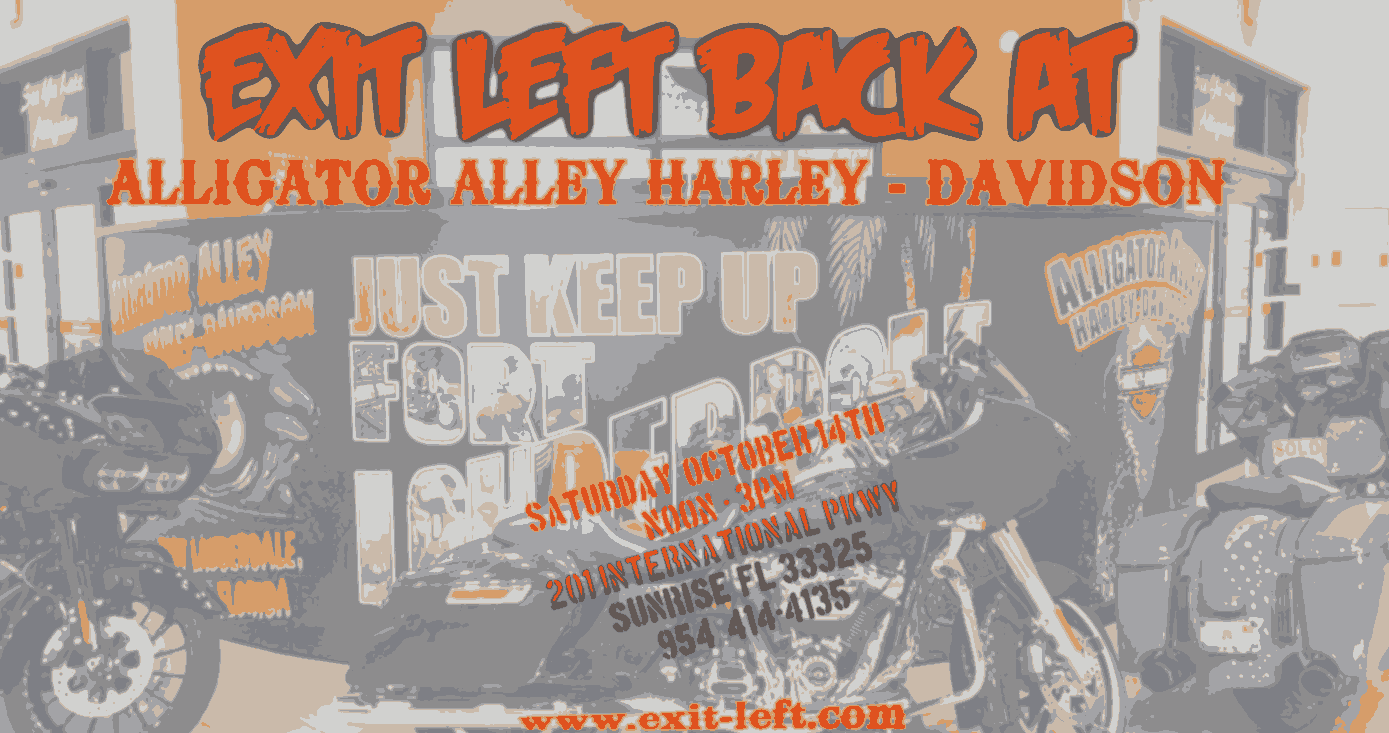 Exit Left Band Live at Alligator Alley Harley Davidson Sunrise Florida