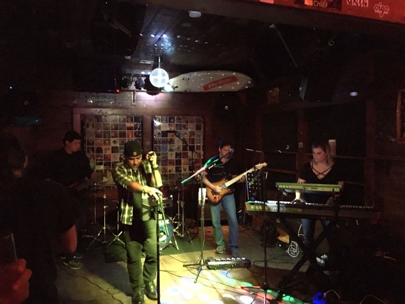 Exit Left Band in the Bougainvillea's Living Room at Bougie's South Miami Florida