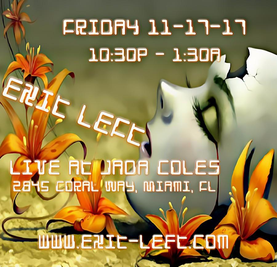 Exit Left Live at Jada Coles Beautiful Image Flyers